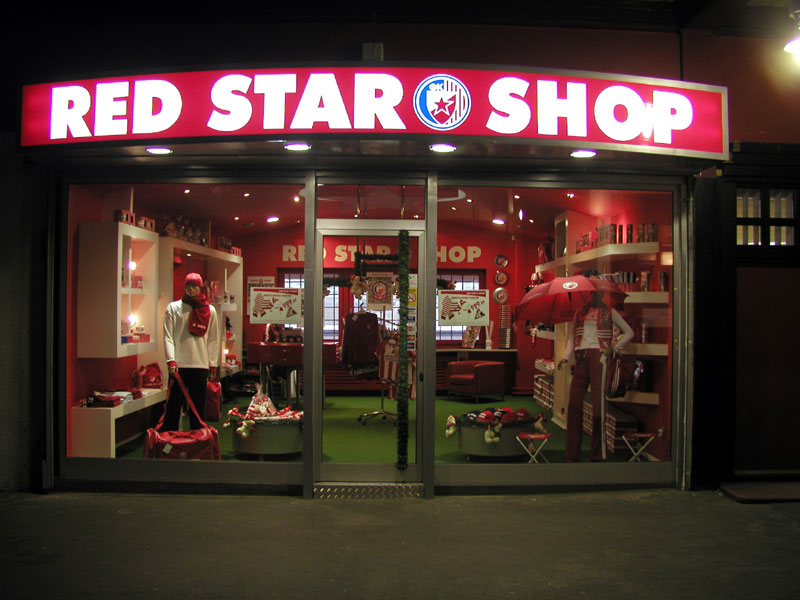 Light box - Red Star